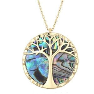 """Jewelry - 14K gold & Abalone shell """"Tree of Life"""" necklace"""